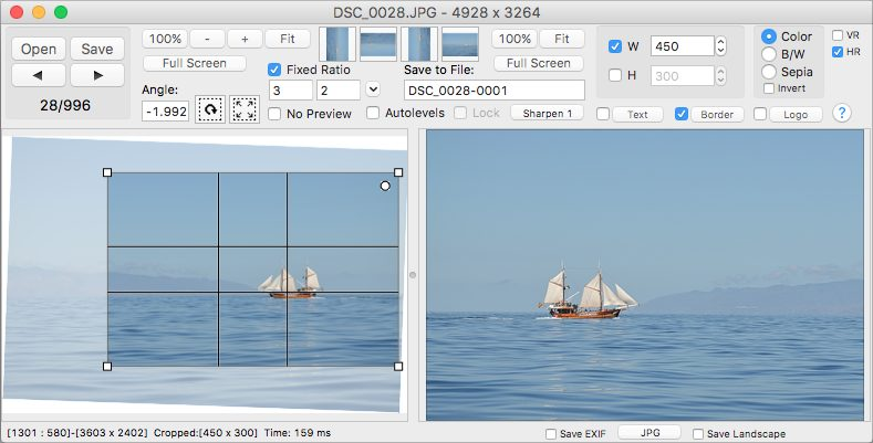 Click 2 Crop - the fast and easy photo editor for macOS